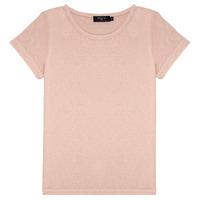 Υφασμάτινα Κορίτσι T-shirt με κοντά μανίκια Deeluxe GLITTER Ροζ
