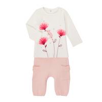 Υφασμάτινα Κορίτσι Σετ Catimini CR36001-11 Άσπρο / Ροζ