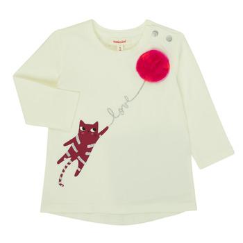 Υφασμάτινα Κορίτσι Μπλουζάκια με μακριά μανίκια Catimini CR10063-11 Ροζ