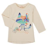 Υφασμάτινα Κορίτσι Μπλουζάκια με μακριά μανίκια Catimini CR10053-12 Άσπρο