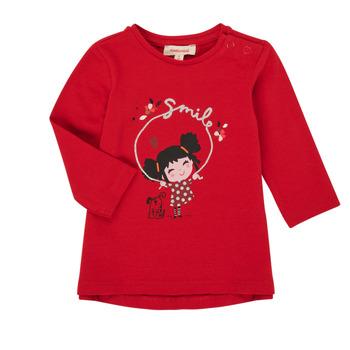 Υφασμάτινα Κορίτσι Μπλουζάκια με μακριά μανίκια Catimini CR10043-38 Red