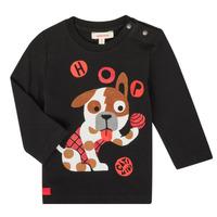 Υφασμάτινα Αγόρι Μπλουζάκια με μακριά μανίκια Catimini CR10022-02 Black