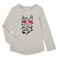 Υφασμάτινα Κορίτσι Μπλουζάκια με μακριά μανίκια Catimini CR10275-26 Grey