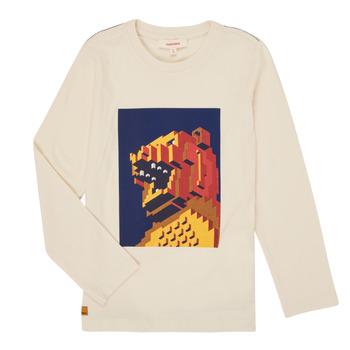 Υφασμάτινα Αγόρι Μπλουζάκια με μακριά μανίκια Catimini CR10064-17-J Άσπρο