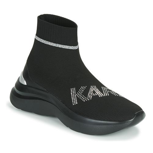 Παπούτσια Γυναίκα Ψηλά Sneakers Karl Lagerfeld SKYLINE KARL RHINESTONE PULL ON BT Black