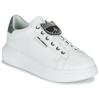 Παπούτσια Γυναίκα Χαμηλά Sneakers Karl Lagerfeld KAPRI IKONIC TWIN LO LACE Ασπρό / Lthr / Ασημι