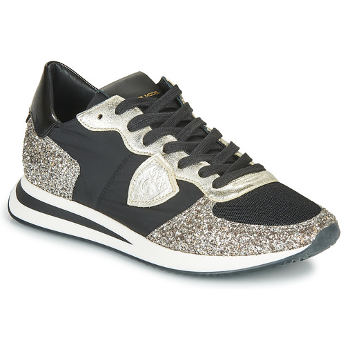 Παπούτσια Γυναίκα Χαμηλά Sneakers Philippe Model TROPEZ X BASIC Black / Argenté