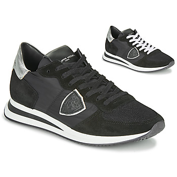 Παπούτσια Γυναίκα Χαμηλά Sneakers Philippe Model TROPEZ X BASIC Black / Argenté