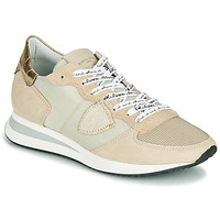 Παπούτσια Γυναίκα Χαμηλά Sneakers Philippe Model TROPEZ X MONDIAL CROCO Beige