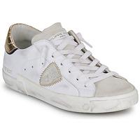Παπούτσια Γυναίκα Χαμηλά Sneakers Philippe Model PARIS X VEAU CROCO Άσπρο / Gold
