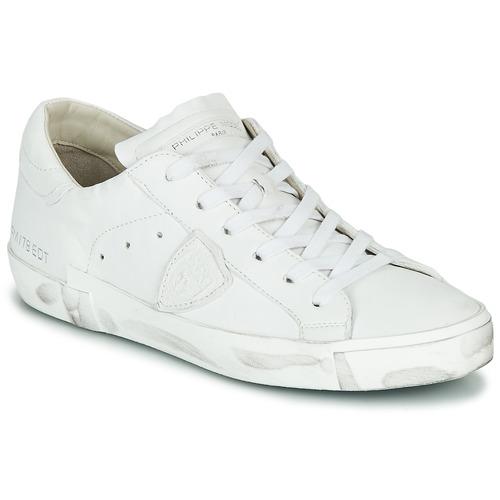 Παπούτσια Γυναίκα Χαμηλά Sneakers Philippe Model PARIS X BASIC Άσπρο