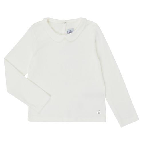 Υφασμάτινα Κορίτσι Μπλουζάκια με μακριά μανίκια Petit Bateau LOVING Άσπρο