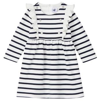 Υφασμάτινα Κορίτσι Κοντά Φορέματα Petit Bateau LEVRIER Άσπρο / Marine