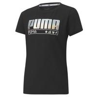 Υφασμάτινα Κορίτσι T-shirt με κοντά μανίκια Puma ALPHA TEE 165 Black