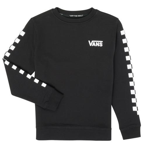 Υφασμάτινα Αγόρι Φούτερ Vans EXPOSITION CHECK CREW Black