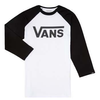 Υφασμάτινα Αγόρι Μπλουζάκια με μακριά μανίκια Vans VANS CLASSIC RAGLAN Black / Άσπρο