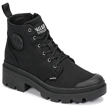 Παπούτσια Γυναίκα Μπότες Palladium PALLABASE TWILL Black