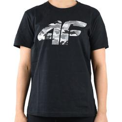 Υφασμάτινα Αγόρι T-shirt με κοντά μανίκια 4F Boy's T-shirt Noir