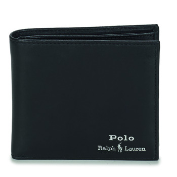 Τσάντες Άνδρας Πορτοφόλια Polo Ralph Lauren GLD FL BFC-WALLET-SMOOTH LEATHER Black