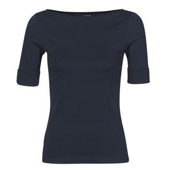 Υφασμάτινα Γυναίκα Μπλουζάκια με μακριά μανίκια Lauren Ralph Lauren JUDY Marine