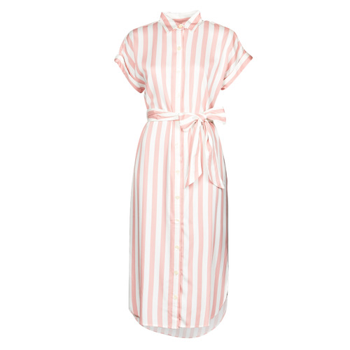 Υφασμάτινα Γυναίκα Μακριά Φορέματα Lauren Ralph Lauren CICERO Άσπρο / Ροζ