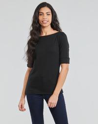 Υφασμάτινα Γυναίκα Μπλουζάκια με μακριά μανίκια Lauren Ralph Lauren JUDY Black