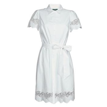 Υφασμάτινα Γυναίκα Κοντά Φορέματα Lauren Ralph Lauren DORTHIA Άσπρο