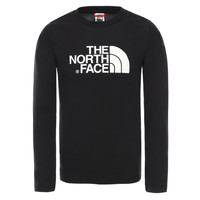 Υφασμάτινα Αγόρι Μπλουζάκια με μακριά μανίκια The North Face EASY TEE LS Black