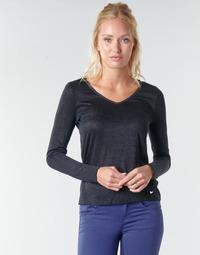 Υφασμάτινα Γυναίκα Μπλουζάκια με μακριά μανίκια Les Petites Bombes ADRIANA Black