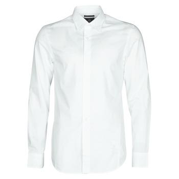 Υφασμάτινα Άνδρας Πουκάμισα με μακριά μανίκια G-Star Raw DRESSED SUPER SLIM SHIRT LS Ασπρό