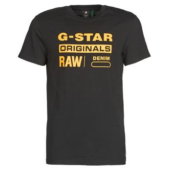 Υφασμάτινα Άνδρας T-shirt με κοντά μανίκια G-Star Raw COMPACT JERSEY O Dk / Μαυρο