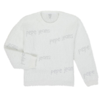 Υφασμάτινα Κορίτσι Πουλόβερ Pepe jeans AUDREY Άσπρο