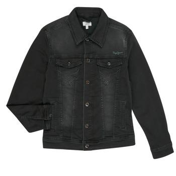 Υφασμάτινα Αγόρι Τζιν Μπουφάν/Jacket  Pepe jeans LEGENDARY Black