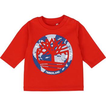 Υφασμάτινα Αγόρι Μπλουζάκια με μακριά μανίκια Timberland T95889 Red