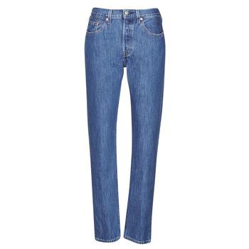 Υφασμάτινα Γυναίκα Boyfriend jeans Levi's 501 CROP Μπλέ