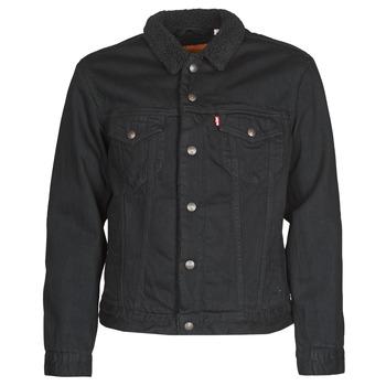 Υφασμάτινα Άνδρας Τζιν Μπουφάν/Jacket  Levi's TYPE 3 SHERPA TRUCKER Black