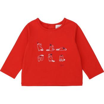 Υφασμάτινα Κορίτσι Μπλουζάκια με μακριά μανίκια Carrément Beau Y95252 Red