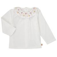 Υφασμάτινα Κορίτσι Μπλουζάκια με μακριά μανίκια Carrément Beau Y95244 Άσπρο