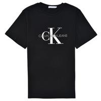 Υφασμάτινα Παιδί T-shirt με κοντά μανίκια Calvin Klein Jeans MONOGRAM Black