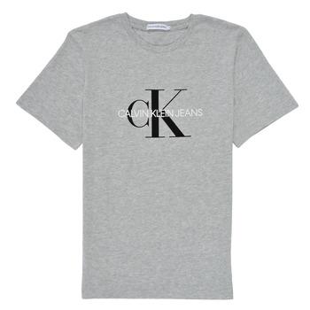 Υφασμάτινα Παιδί T-shirt με κοντά μανίκια Calvin Klein Jeans MONOGRAM Grey