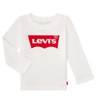 Υφασμάτινα Κορίτσι Μπλουζάκια με μακριά μανίκια Levi's BATWING TEE LS Άσπρο