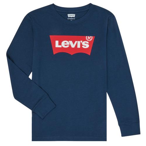 Υφασμάτινα Αγόρι Μπλουζάκια με μακριά μανίκια Levi's BATWING TEE LS Μπλέ