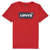 Υφασμάτινα Αγόρι T-shirt με κοντά μανίκια Levi's BATWING TEE Red