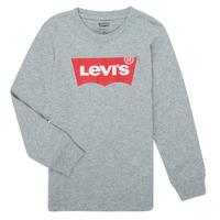 Υφασμάτινα Αγόρι Μπλουζάκια με μακριά μανίκια Levi's BATWING TEE LS Grey