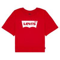 Υφασμάτινα Κορίτσι T-shirt με κοντά μανίκια Levi's LIGHT BRIGHT CROPPED TEE Red