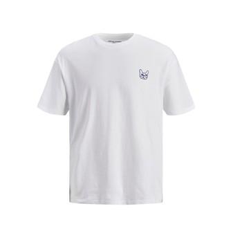 Υφασμάτινα Αγόρι T-shirt με κοντά μανίκια Jack & Jones JJAARHUS TEE Άσπρο