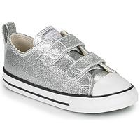 Παπούτσια Κορίτσι Χαμηλά Sneakers Converse CHUCK TAYLOR ALL STAR 2V - COATED GLITTER Silver