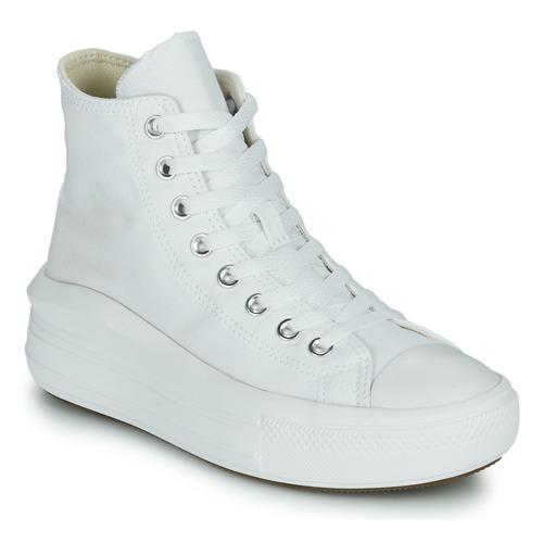 Παπούτσια Γυναίκα Ψηλά Sneakers Converse Chuck Taylor All Star Move Canvas Color Hi Άσπρο