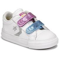 Παπούτσια Κορίτσι Χαμηλά Sneakers Converse STAR PLAYER 2V GLITTER TEXTILE OX Άσπρο / Μπλέ / Ροζ