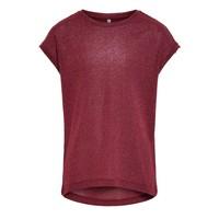 Υφασμάτινα Κορίτσι T-shirt με κοντά μανίκια Only KONSILVERY Bordeaux